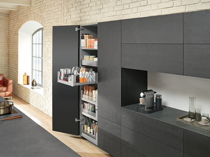 The Space Tower Larder Unit By Blum The Convenient Way To Store Food Furniture Production