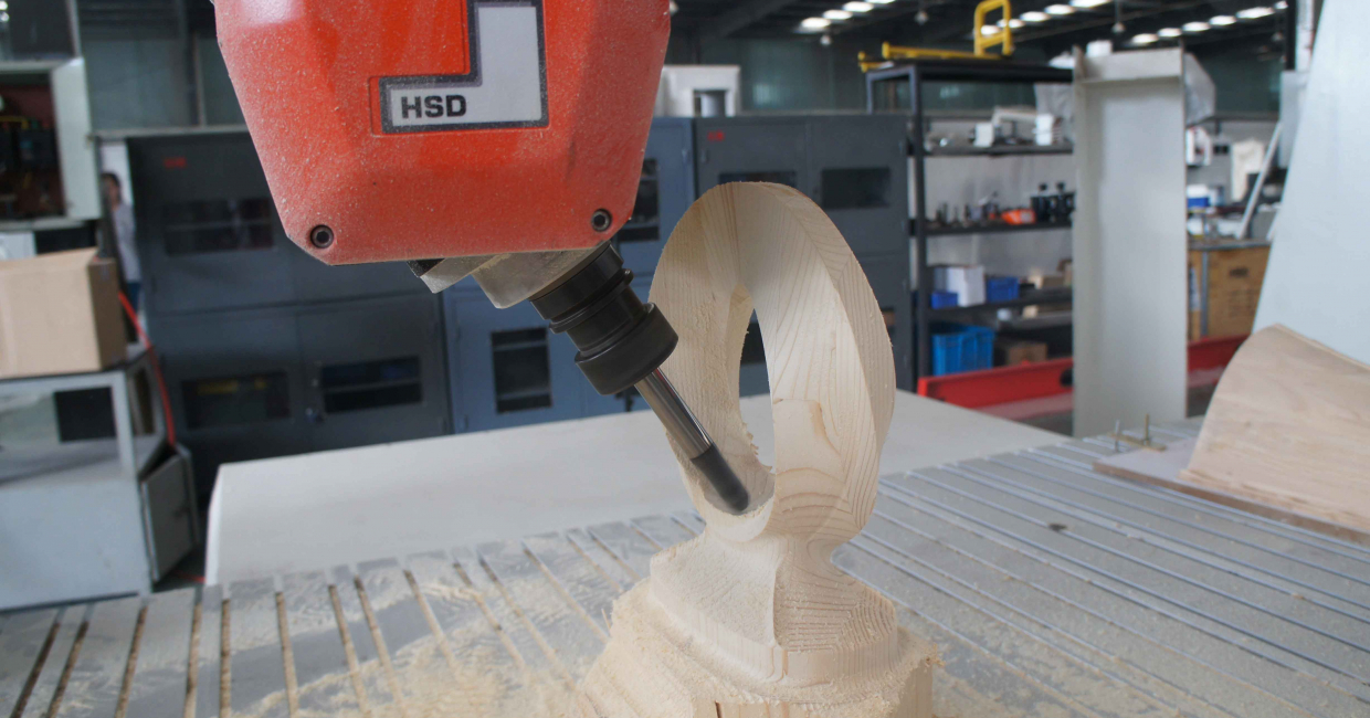 5 Axis CNC machining of spiral by Maxicam