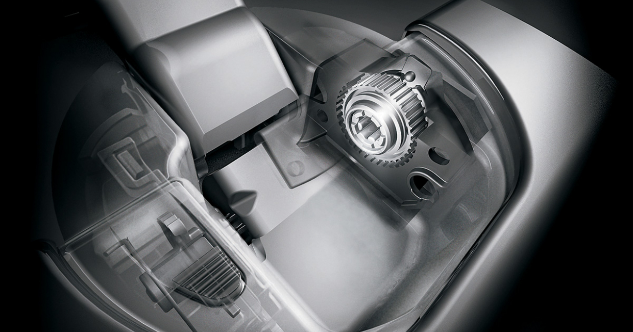 The special soft close mechanism in the hinge boss of the Clip top Blumotion concealed hinge