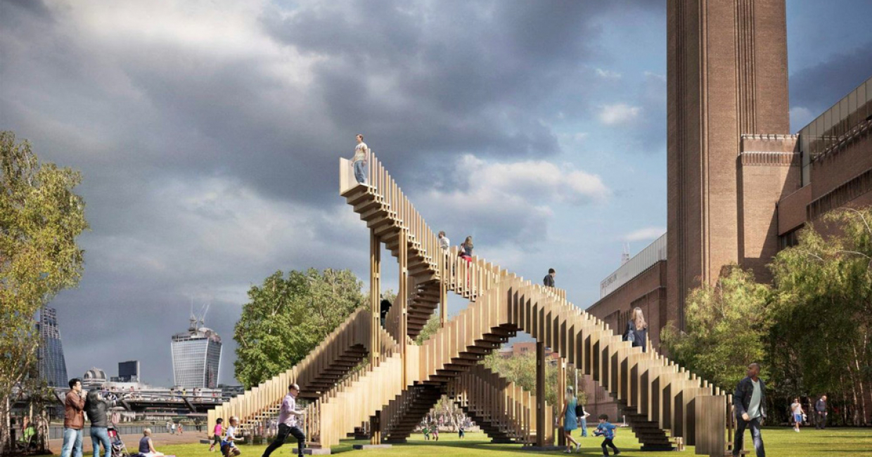 An impressive installation called The Endless Stair, sposnored by AHEC, will be sited at Tate Modern Bankside