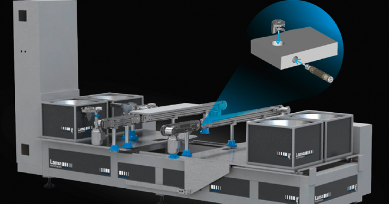 The Lama FastFit machine reduces cam and dowel fittings time by 50%