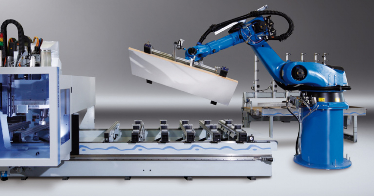 LIGMATECH robots improve productivity with almost any HOMAG group machine