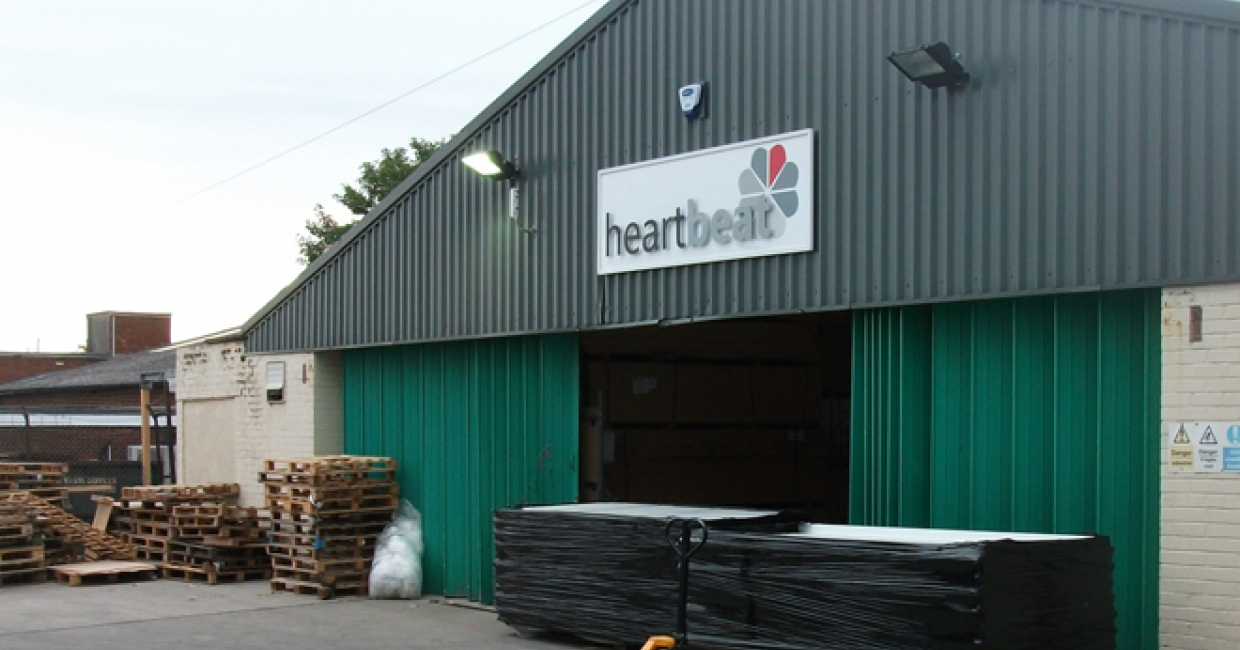 Heartbeat's manufacturing warehouse heated by a Talbott TMA 300kW automatic unit