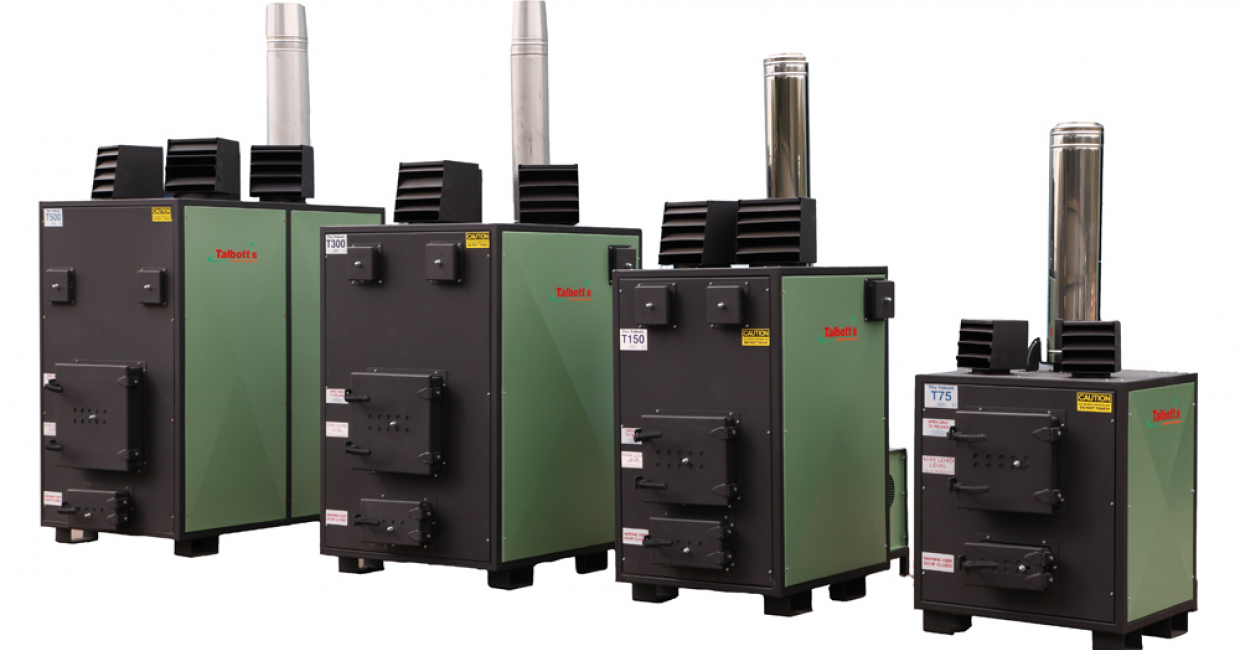 The Talbott T range, manually fed heating systems suitable for use with wood waste off cuts