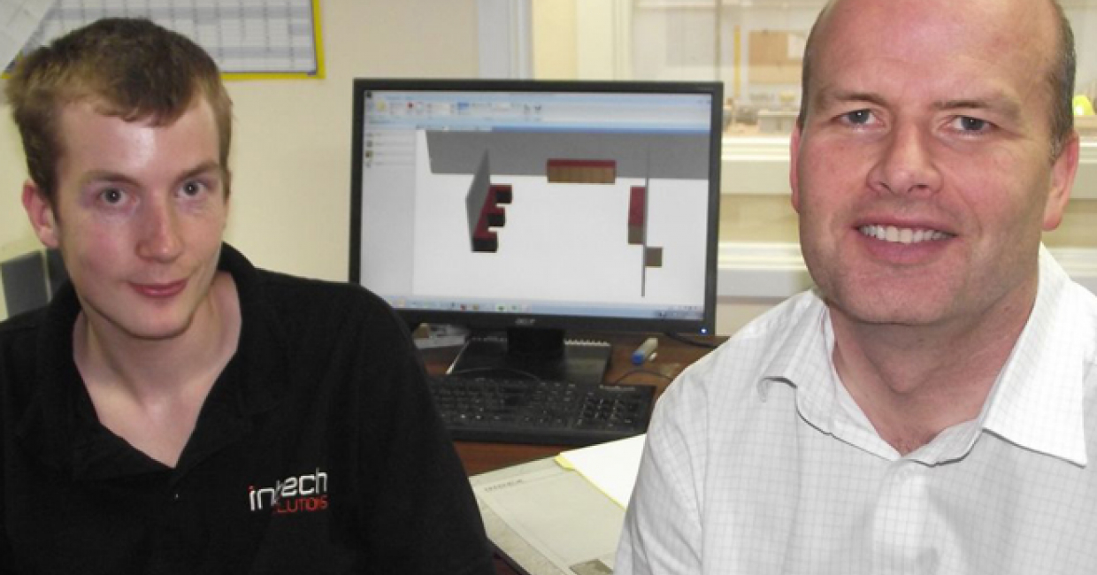 Intech Solutions' Sam Burton (left) and Steve Mitchell-Yorke