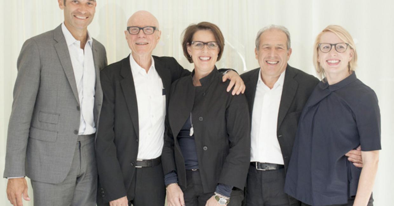 Daniel Sachs, CEO, Proventus AB Rolf Fehlbaum, member of the board of directors, Vitra Mirkku Kullberg, CEO, Artek Robert Weil, chairman and founder Proventus AB Nora Fehlbaum, member of the board of directors, Vitra (from left to right) Photographer: Aino Huovio © Vitra & Artek