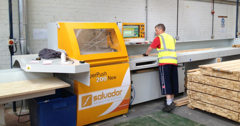 Salvador Superpush 200 installed by Daltons Wadkin at Westbridge Furniture, North Wales