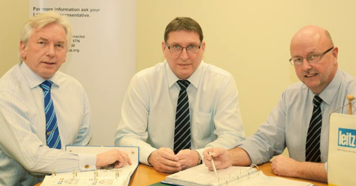 Left to right: Derek Statham, UK service and works manager, Simon Liddell, managing director, Brian Maddox, UK sales manager