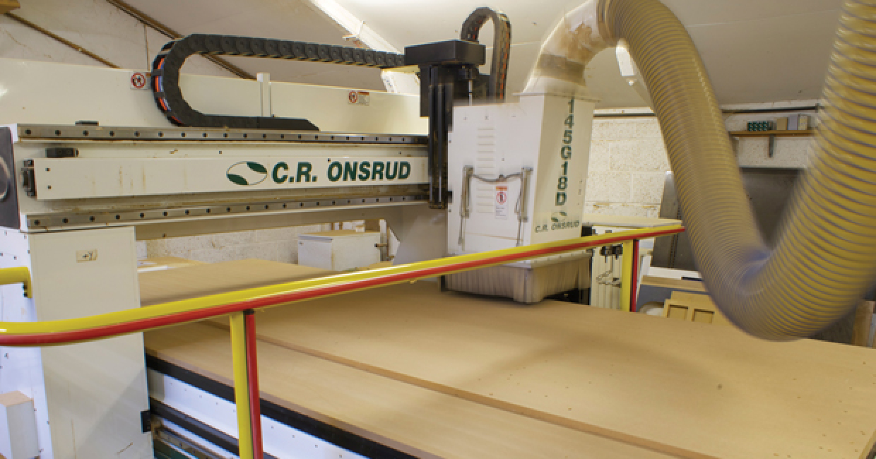 The Onsrud Panel Pro installed at Knotty Ash Woordworking, supplied and installed by ATA Engineering
