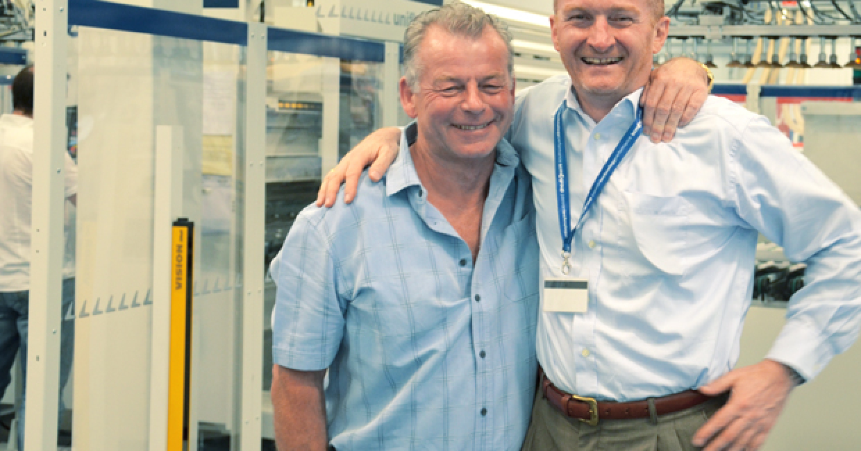 The effervescent Peter Brown (left) with Gabriele De Col, managing director, SCM Group UK