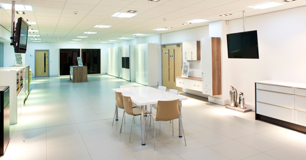 Hettich UK's new showroom in Salford