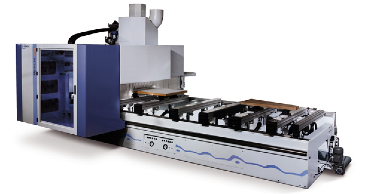 The reliable Homag Venture 316 five-axis CNC processing centre at Silverlining