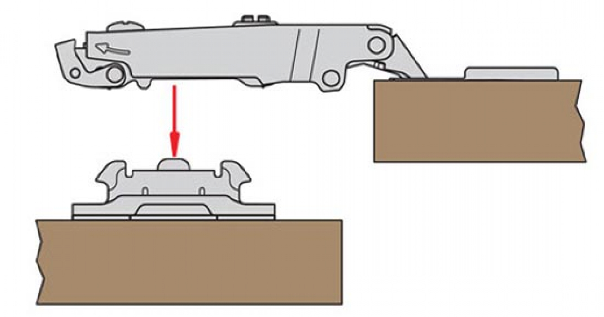 Clip on hinges