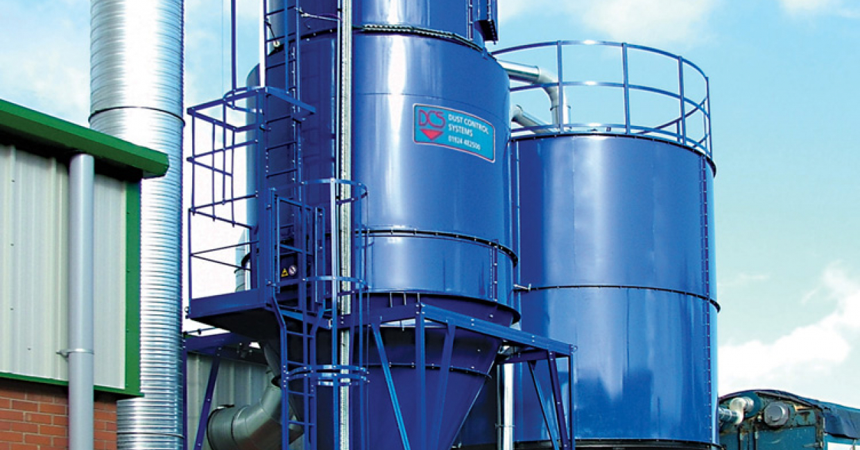 Cyclo-filter dust extraction system is capable of handling 1000 tonnes per year