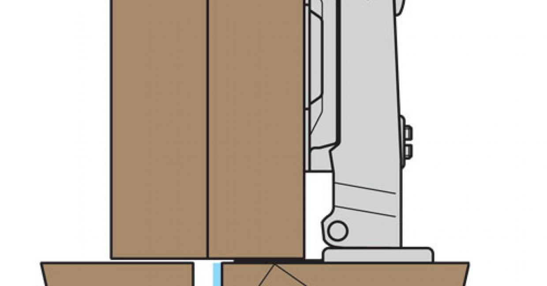 Full overlay concealed hinge