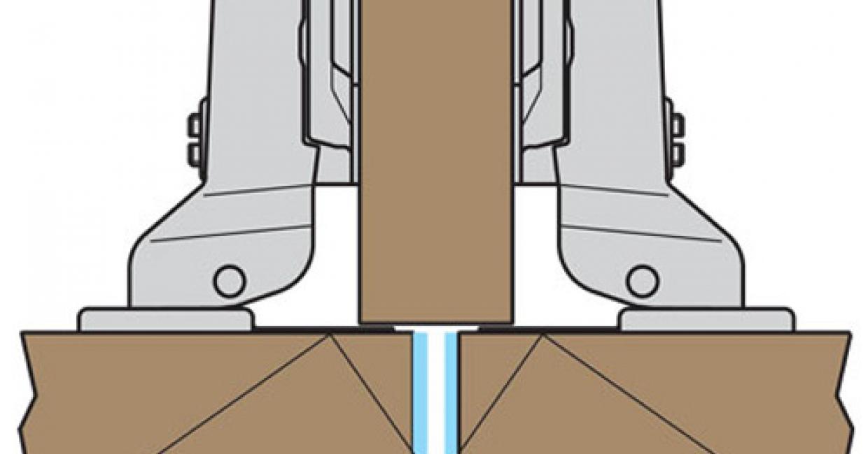 Half overlay concealed hinge