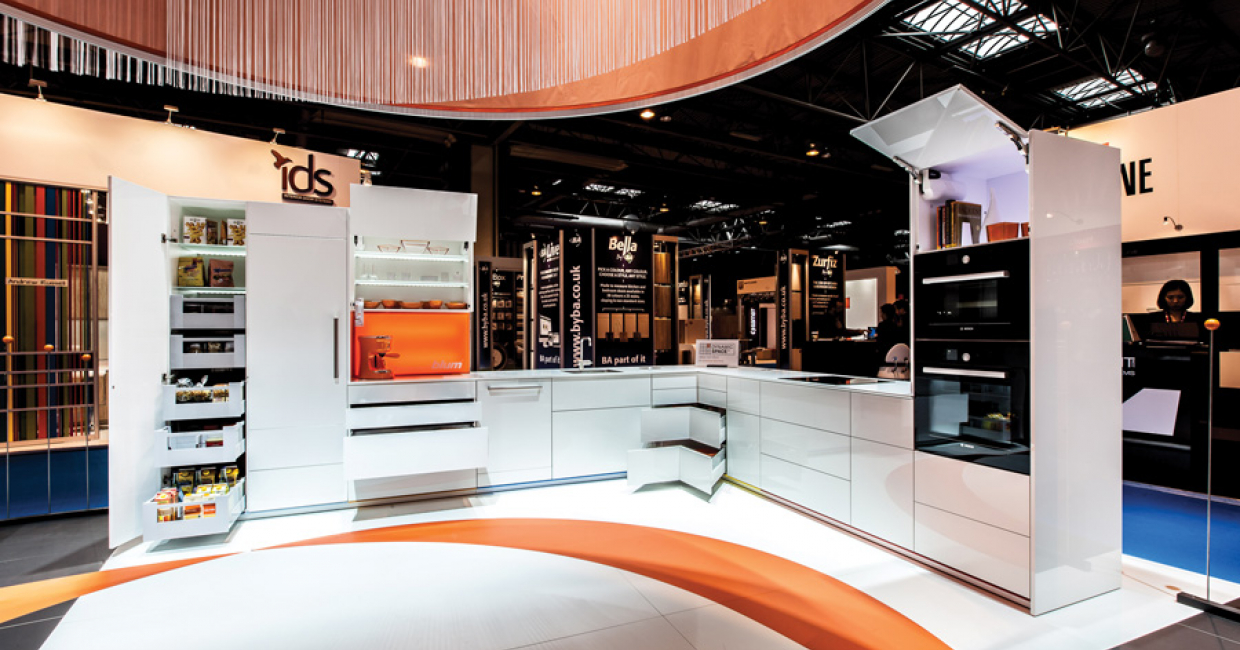 In side the Blum UK stand at KBB