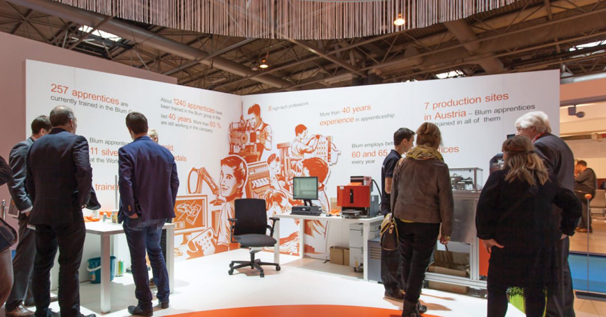 Visitors left the Blum KBB stand with a sense of excitement for the future of its products, backed by a high level of technology and history.