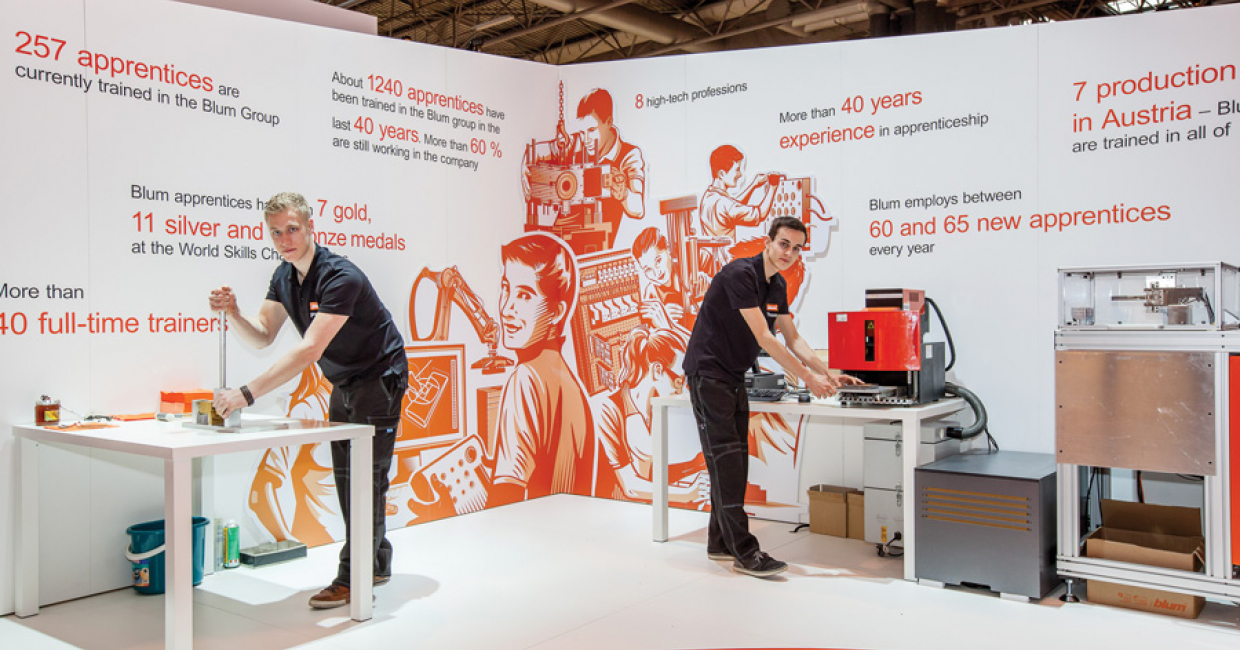 Active demonstrations formed part of the Blum UK stand at KBB