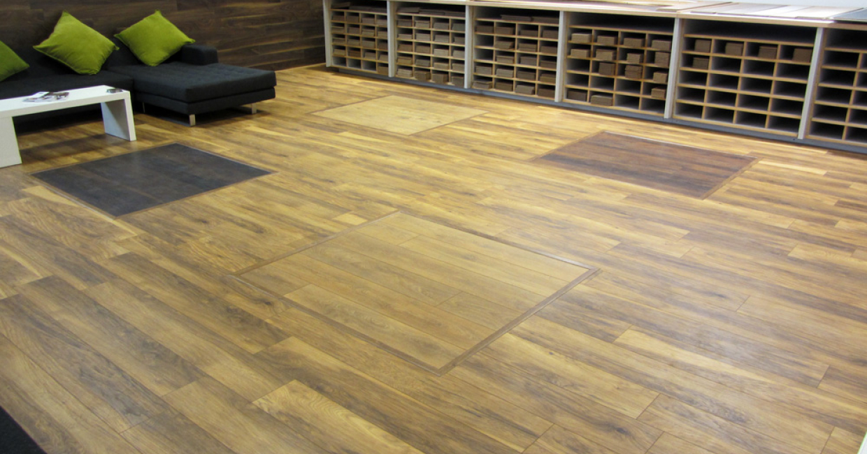 The new Krono Original flooring range showroom