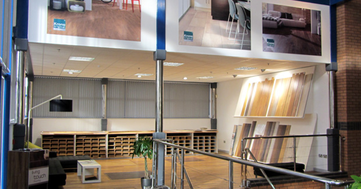 Kronospan's new flooring showroom at its Chirk facility