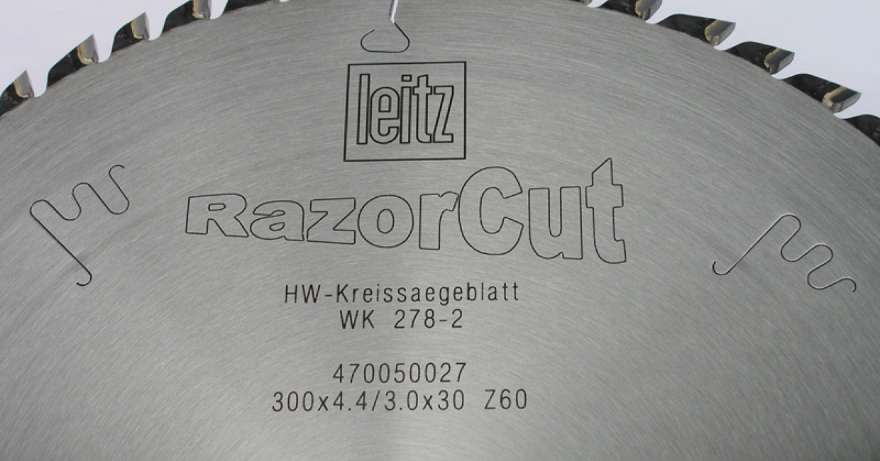 The RazorCut blades from Leitz has proved to be very impressive with CJ Kitchens