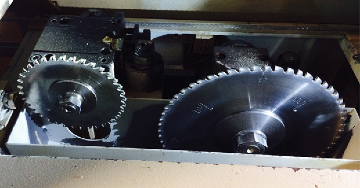 Using Leitz cutting service, CJ Kitchens only changes its blades every three to four weeks