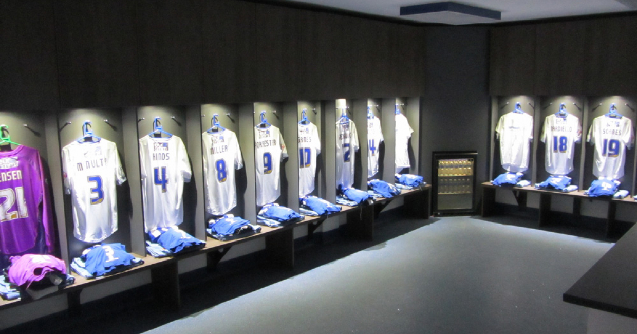 The impressive new changing room