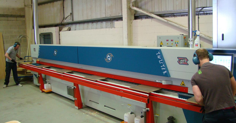 The Paul Ott Twister edgebanding machine at Frontline Cabinets