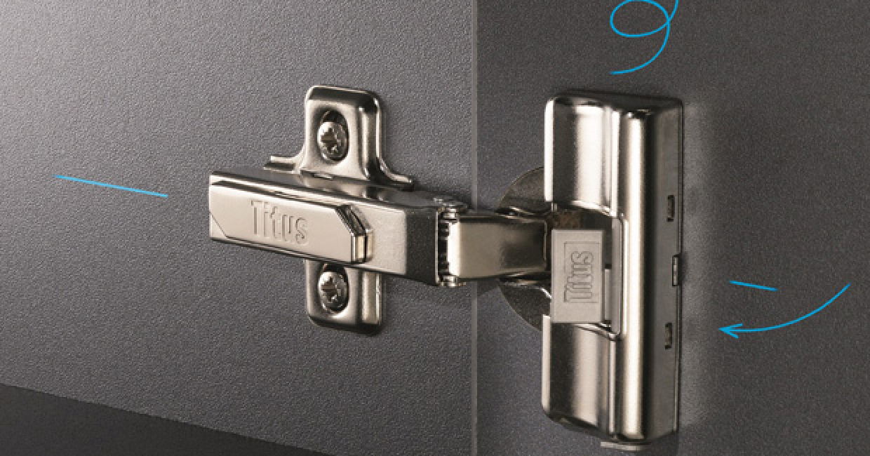 Titus' latest hinge incarnation features integrated damping