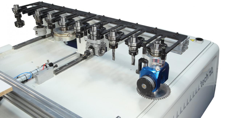 TR10 automatic tool-changer on SCM Tech Z2 CNC machining centre