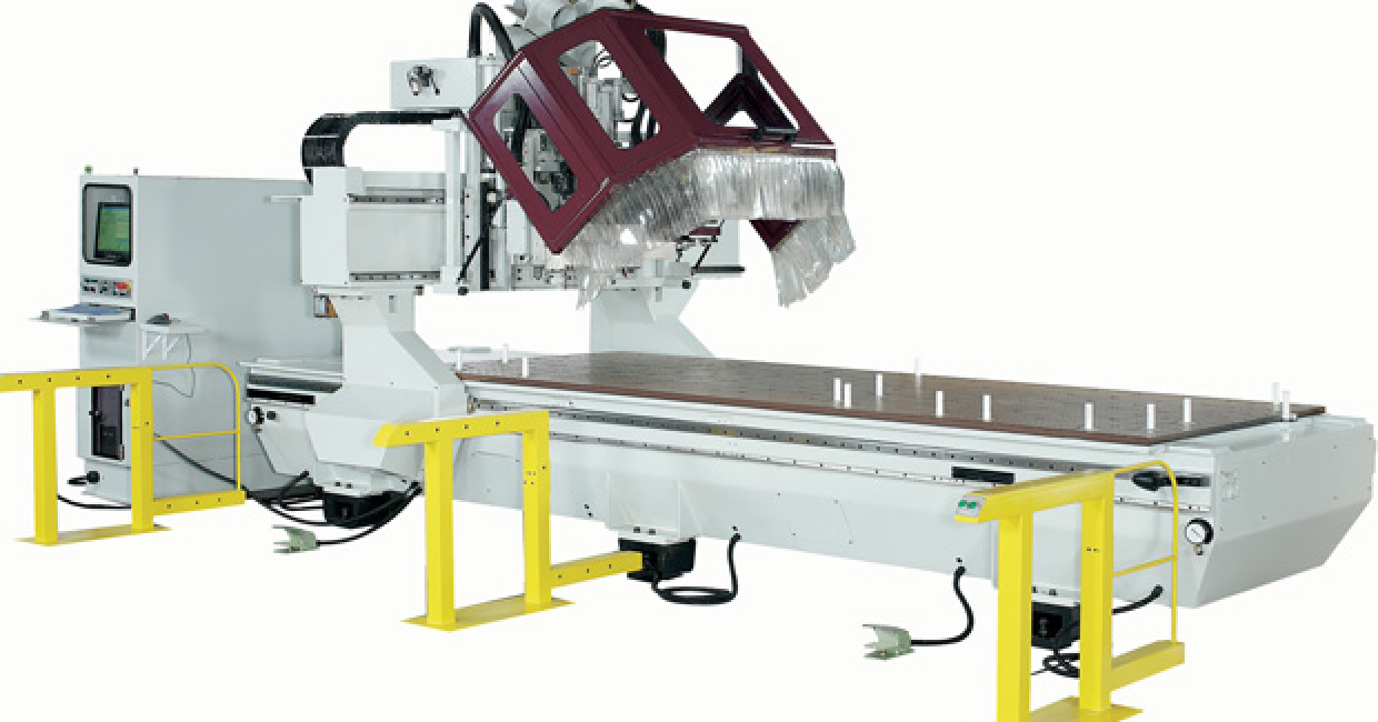 Andi Stratos is the bedrock of the Anderson range – up to 2100mm wide by any length and with options for automatic loading, product positioning, workpiece travel, table cleaning, automatic label printing and two- or three-station work areas.