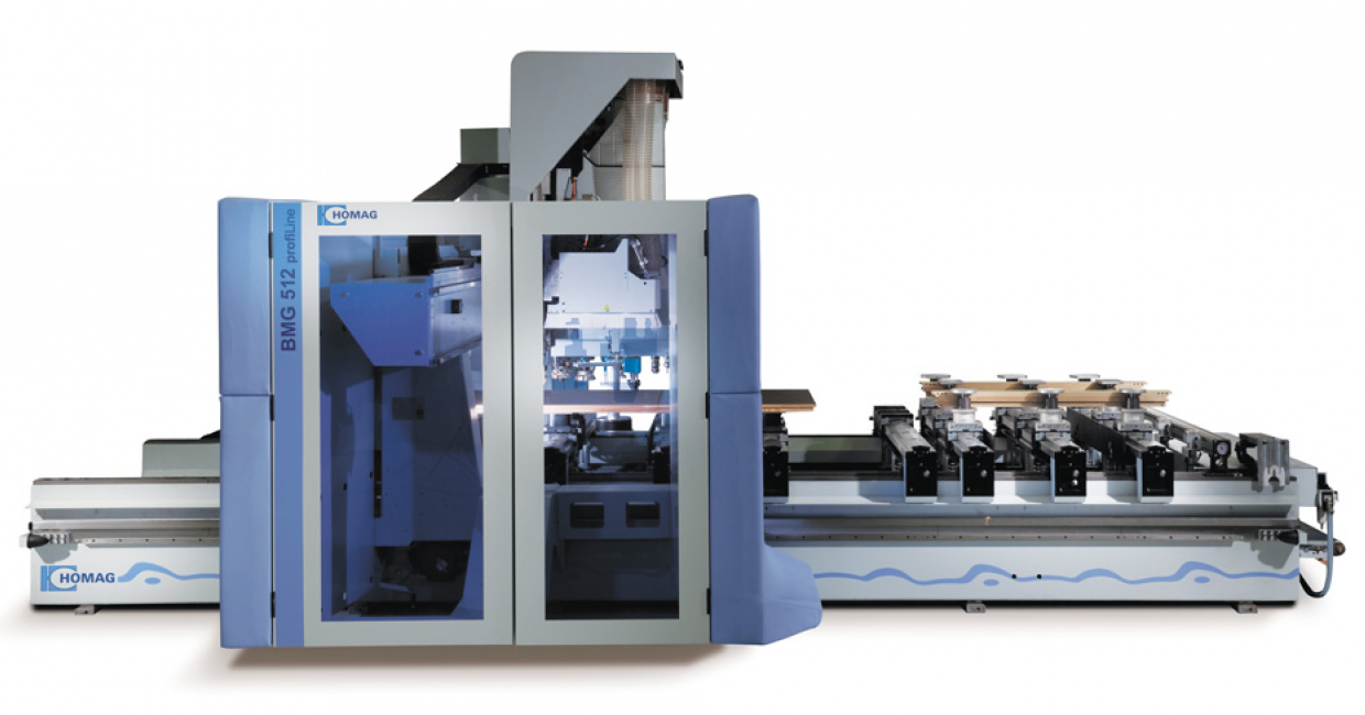 The Homag BMG 512 is an all-rounder machine, saving time and providing maximum production flexibility