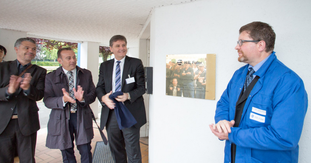 The inauguration of the H.B.Fuller plant in Blois, France