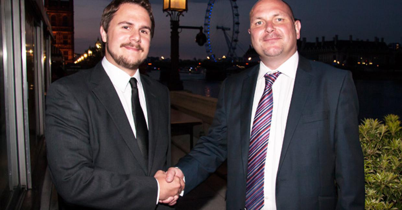 Paul Farlery and Phil Reynolds formalising the partnership