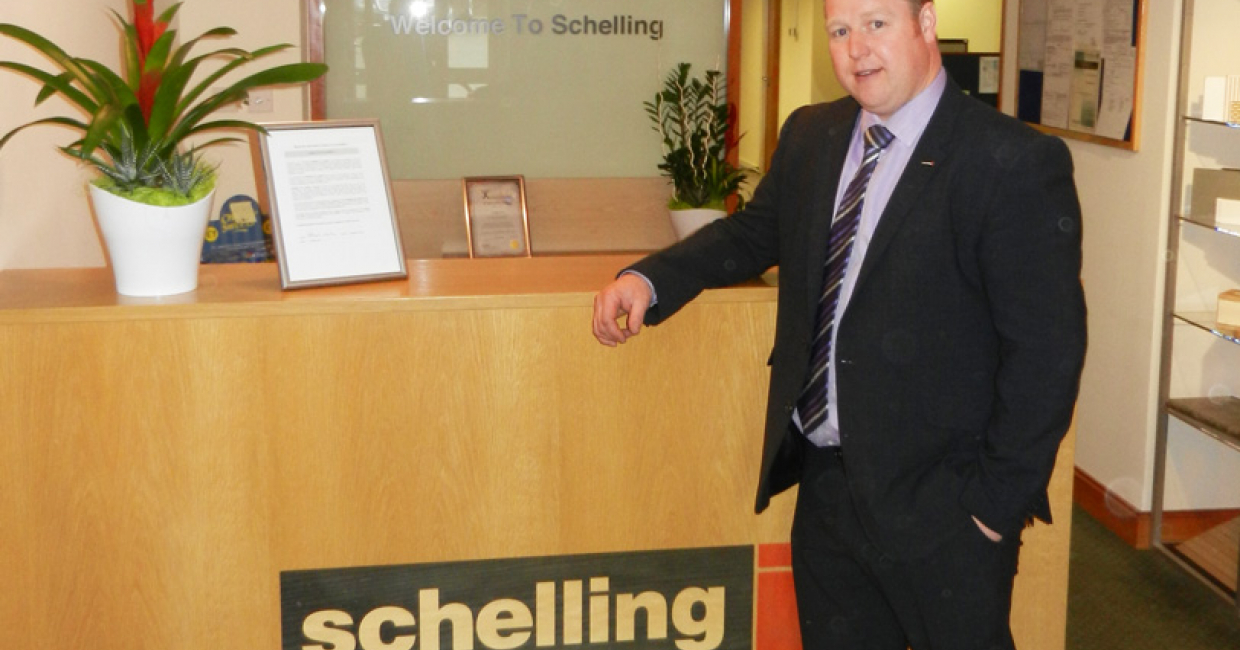 Schelling UK MD Markus Freuis in his new reception
