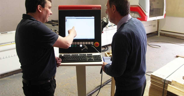 Charlie Dalton and Blyth Machinery's Phil Vaux
