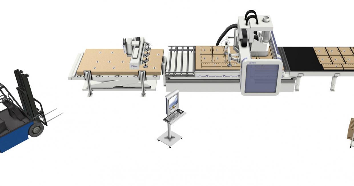 The WEEKE Vantage 200 can be an integral part of a production line or operate on a stand-alone basis