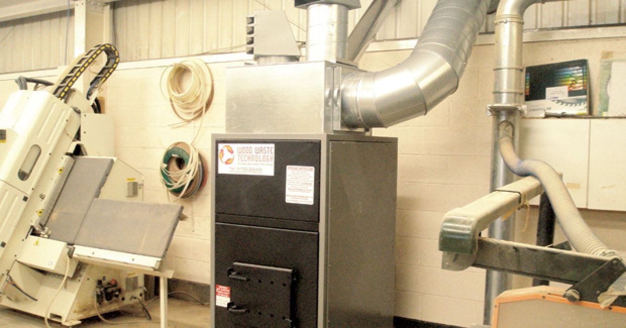 Wood Waste Technology's WT5 heater installed at Sinclair Construction