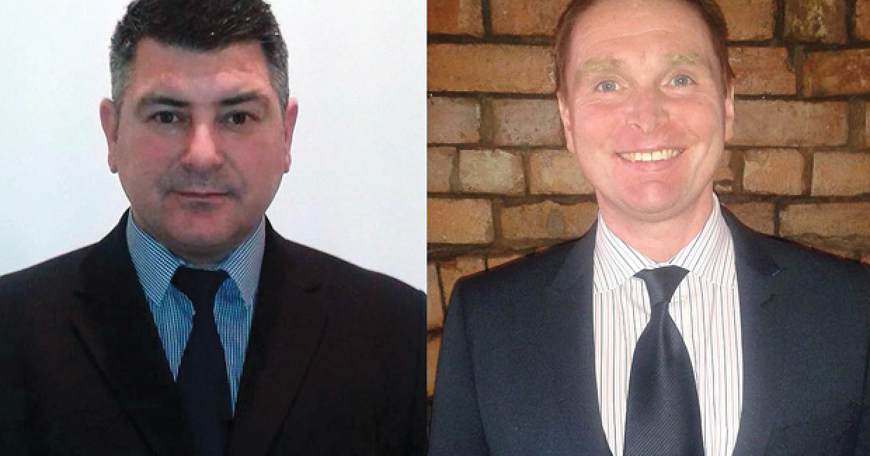 Marco Sanger-Caizzo (left) and Gerard Maloney