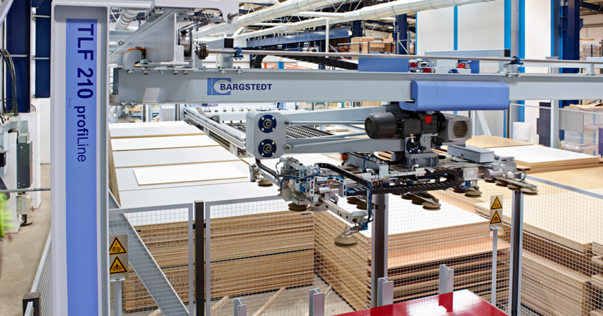 The Bargstedt's automatic board stock control systems maximise productivity and minimise downtime