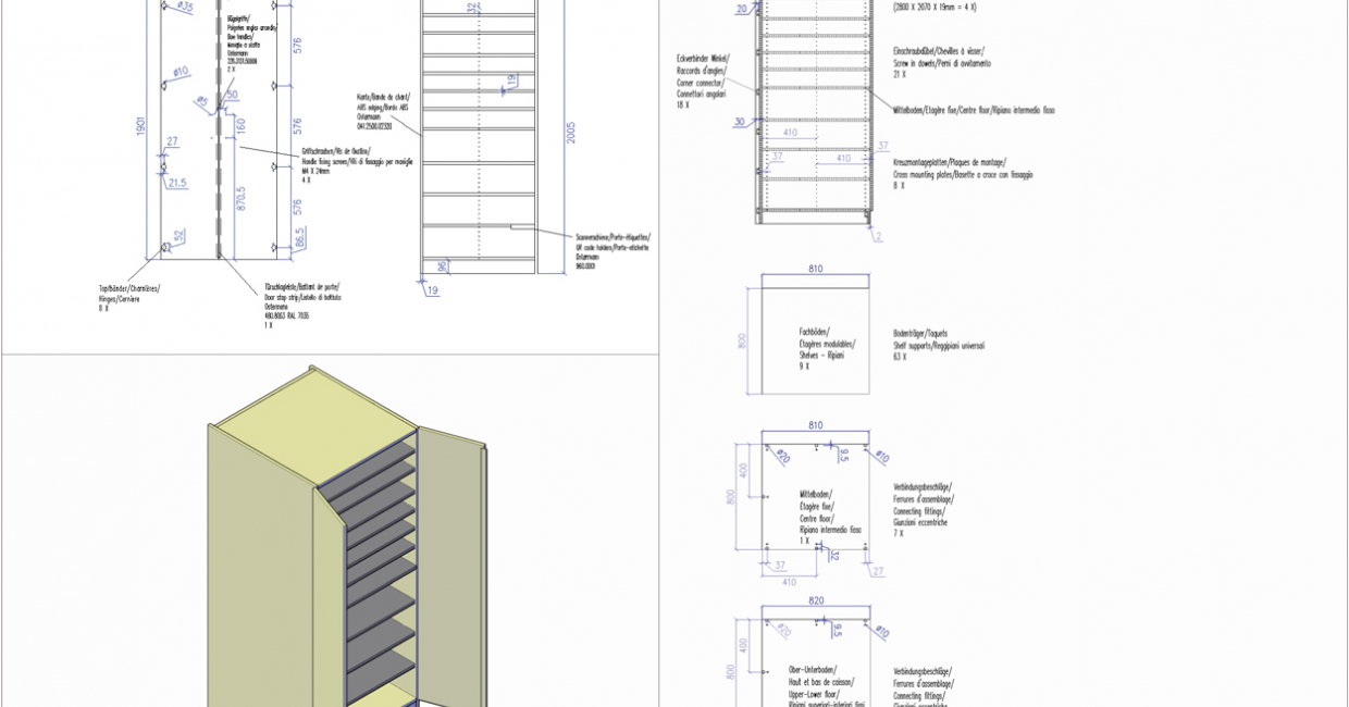 A free blueprint for an edging cupboard is available on the Ostermann site for download