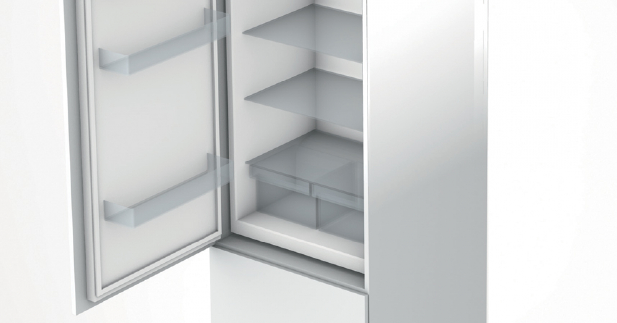 Servo-Drive flex is the electrical opening support system for integrated refrigerators/freezers and dishwashers with no handles – with intelligent functions such as automatic self-closing or straightforward plug and play installation, for example
