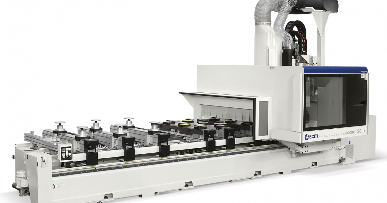 The impressive SCM Accord 20 FX CNC machining centre will be going through its paces at W14