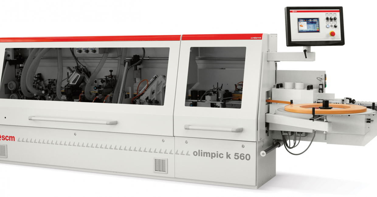 SCM will be exhibiting the K560 edgebander for the first time