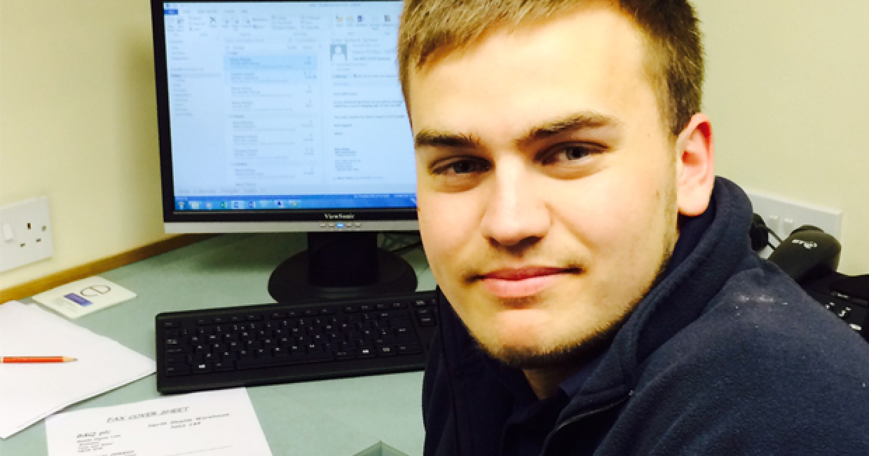 Liam Dunkley, TM Services' newest apprentice