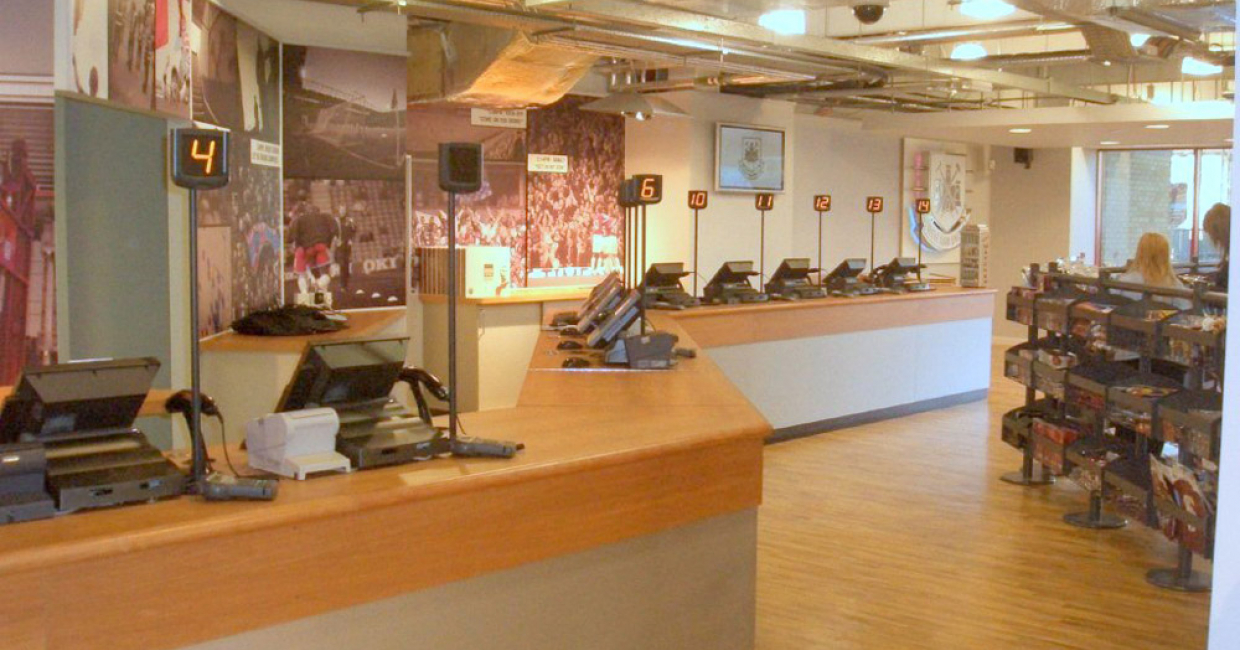 Hawkins Joinery made the wood-based units for the retail outlet at West Ham's soccer ground