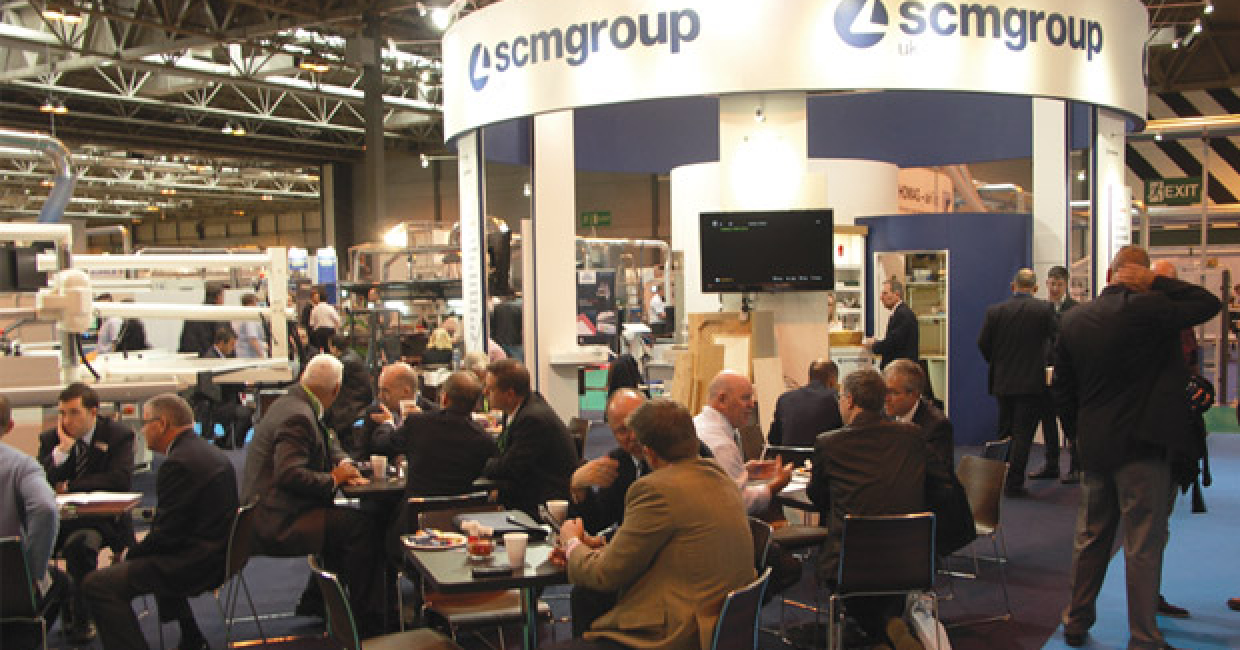 SCM Group's stand at W14 was always busy with customers