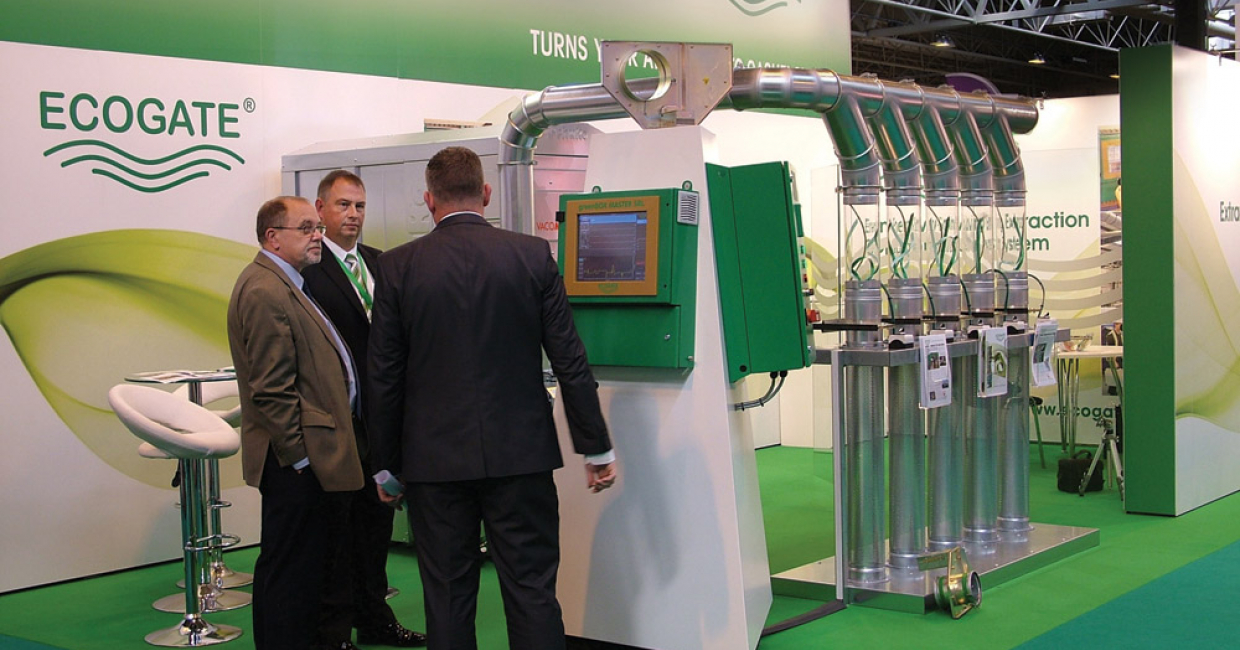 Ecogate demo showed how the system can save up to 80% on extraction running costs
