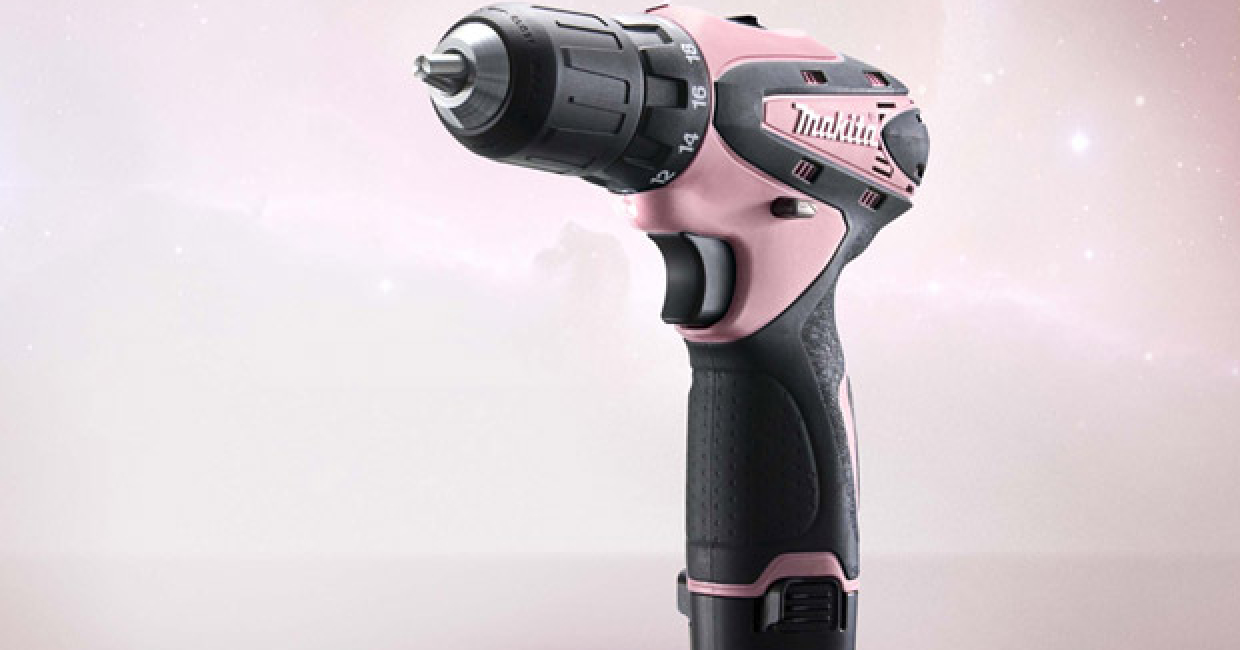 Makita UK has donated pink cordless drill drivers to Team Run 12 as a contribution towards their challenging fund raising programme